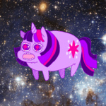 kicksatanout space twilight_sparkle