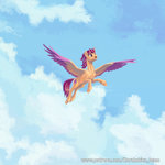 cloud flying highres kirillk scootaloo