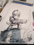 armor crossover johnjoseco military photo sketch spike warhammer_40k weapon
