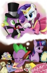 cane dress fancy hat inkwell magic mustache peppersupreme quill rarity sleeping spike tophat twilight_sparkle