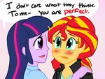 anime anime_as_fuck catlover1672 equestria_girls humanized shipping sunlight sunset_shimmer twilight_sparkle