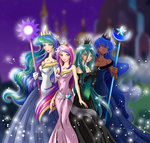 chargoz humanized princess_cadance princess_celestia princess_luna queen_chrysalis