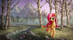 butterfly flowers fluttershy highres mountain smg11-on-ddjrb stream trees