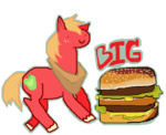 big_macintosh hamburger mspaint seniorpony transparent