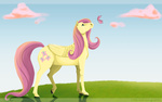 butterfly fluttershy highres horselike iridescentflare