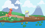 big_macintosh comic derpy_hooves highres muffin of_mice_and_men parody socio