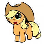 applejack filly kloudmutt