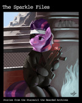 bandage catsuit eyepatch future_twilight gun kevinsano twilight_sparkle weapon