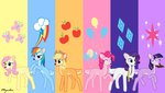applejack deer fluttershy highres main_six mynder pinkie_pie rainbow_dash rarity species_swap twilight_sparkle
