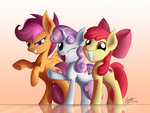 apple_bloom cutie_mark_crusaders duskie-06 highres scootaloo sweetie_belle