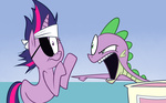 apple.mov bandage eyepatch future_twilight ice_cream karzahnii spike twilight_sparkle