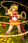 anime applejack humanized lasso sailor_moon watermark youkaiyume