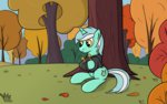 autumn background_pony_(story) hoodie lyra_heartstrings lyre valter-i