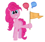 balloon flag i_shall_not_use_my_hooves_as_hands pinkie_pie transparent westy543