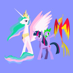 jun philomena princess_celestia spike twilight_sparkle