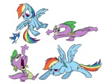 bird fim_crew rainbow_dash sibsy spike
