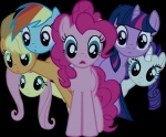 applejack artist_unknown fluttershy highres main_six pinkie_pie rainbow_dash rarity transparent twilight_sparkle vector