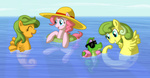 atlur g1 generation_leap gummy pinkie_pie seaponies swimming
