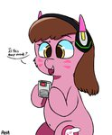an-honest-appul crossover d.va gameboy highres overwatch ponified text