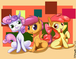 :p apple_bloom cutie_mark_crusaders scootaloo siberwar sweetie_belle