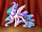 cape hat princess_celestia rope shinepaw the_great_and_powerful_trixie