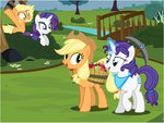 alternate_universe applejack flashequestria personality_swap rarity ultimare_universe