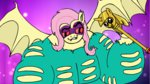 flutterbat fluttershy highres meme power_ponies saddle_rager sausesource scepter smug twilights_scepter
