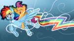8-xenon-8 highres pony_ride_the_pony rainbow_dash riding scootaffection scootaloo