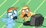 angry applejack elslowmo rainbow_dash tv