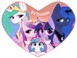 avrameow highres princess_cadance princess_celestia princess_flurry_heart princess_luna princess_twilight twilight_sparkle
