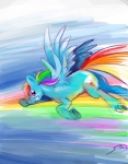 highres rainbow_dash vampirechicken