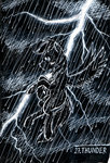 highres lightning rain rainbow_dash sa1ntmax traditional_art