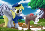 derpy_hooves hat highres mail mailbag mailbox symbianl uniform