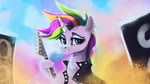 guitar hierozaki highres manecut punk_rarity rarity