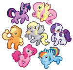 applejack buttercupbabyppg derpy_hooves fluttershy glasses main_six muffin pinkie_pie rainbow_dash rarity transparent twilight_sparkle