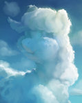 applejack cloud gor1ck highres