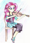 astevenamedwolf equestria_girls fluttershy humanized traditional_art violin
