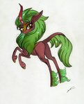 absurdres background_ponies highres kirin luxiwind traditional_art