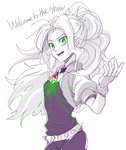 adagio_dazzle equestria_girls glowing_eyes humanized megarexetera sketch the_dazzlings