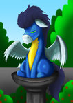 bird_bath exelzior-maximus highres pegasi_acting_like_birds soarin uniform