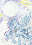 highres princess_luna swan ursa_major winged-dragoness