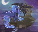 bird mochashortcake moon princess_luna tree