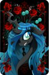 card flowers highres queen_chrysalis rariedash
