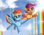 johnjoseco rainbow_dash scootaffection scootaloo tears winsome_falls