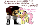 comic crossover dragon_ball_z fluttershy mickeymonster mr_satan