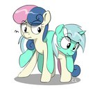 absurdres annoyed candylux highres lyra_heartstrings pony_ride_the_pony riding sweetie_drops