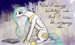 baww emotional_blackmail newspaper princess_celestia silfoe tears