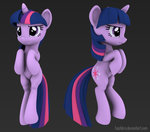 3d_model hashbro twilight_sparkle