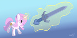 filly magic princess_celestia sword weapon westy543