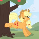 absurdres applejack apples highres pink-pone tree